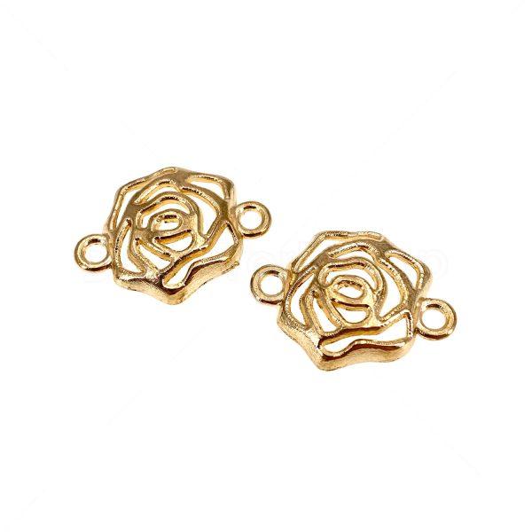 金屬掛飾首飾配件-立體玫瑰