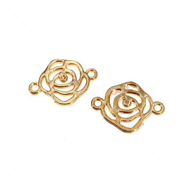 金屬掛飾首飾配件-玫瑰