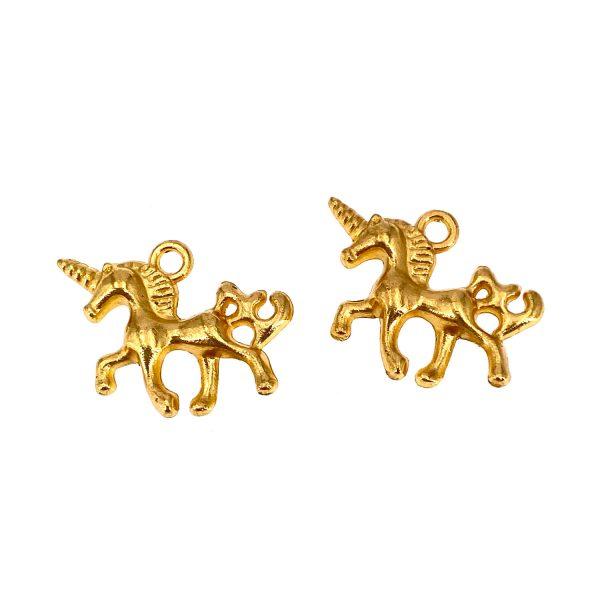 金屬掛飾首飾配件-金色獨角獸