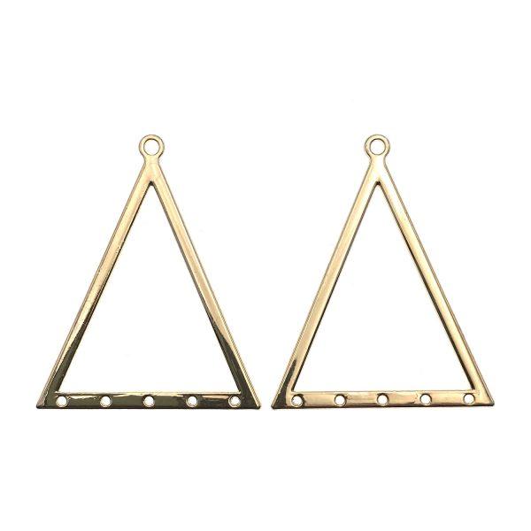 金屬掛飾首飾配件-三角掛孔金屬圈掛飾