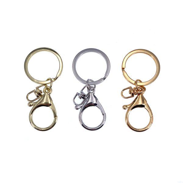 金色/銀色/玫瑰金雙鎖匙扣