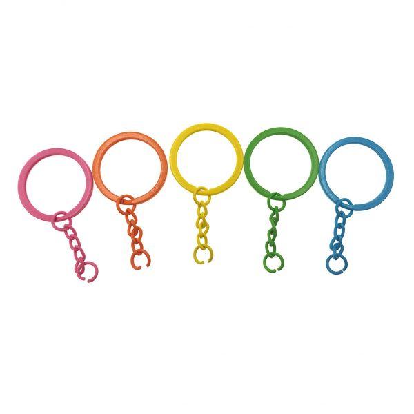 彩色鎖匙扣