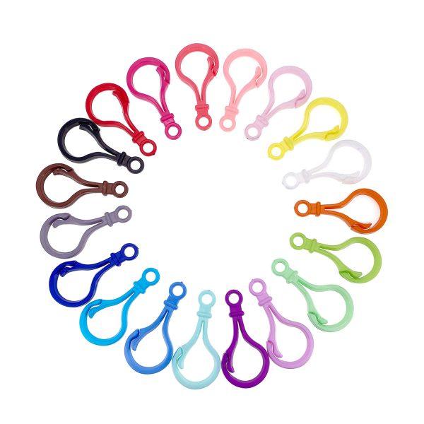 彩色塑膠鎖匙扣