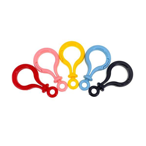 彩色塑膠鎖匙扣大號