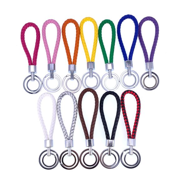 皮繩雙環匙扣