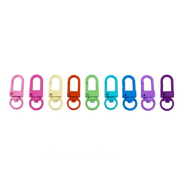 彩色小門扣鎖匙扣