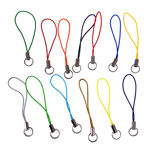 彩色雙圈手機掛繩
