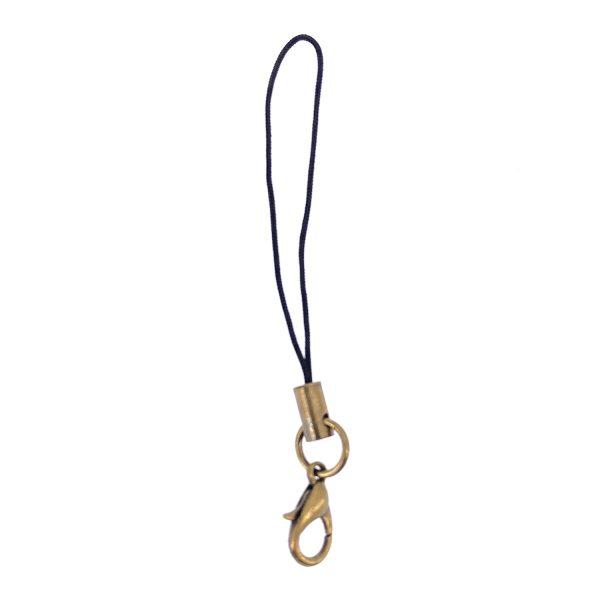古銅龍蝦扣黑色手機掛繩