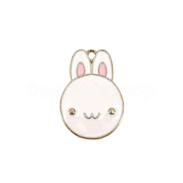 小白兔合金DIY首飾配件