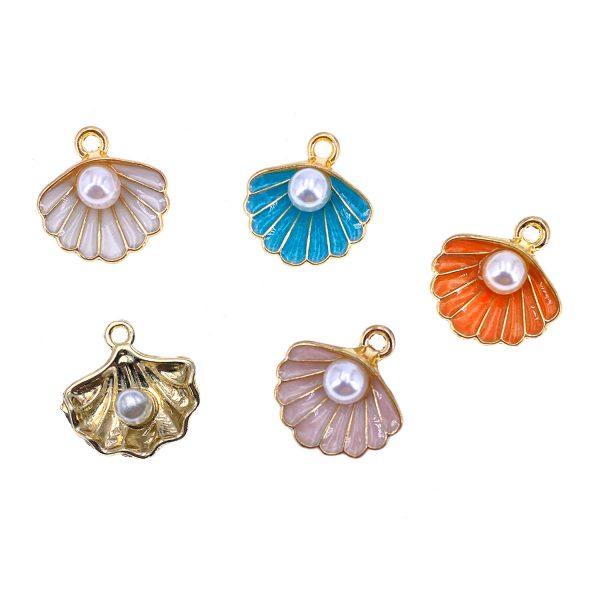 珍珠貝殼合金diy首飾配件