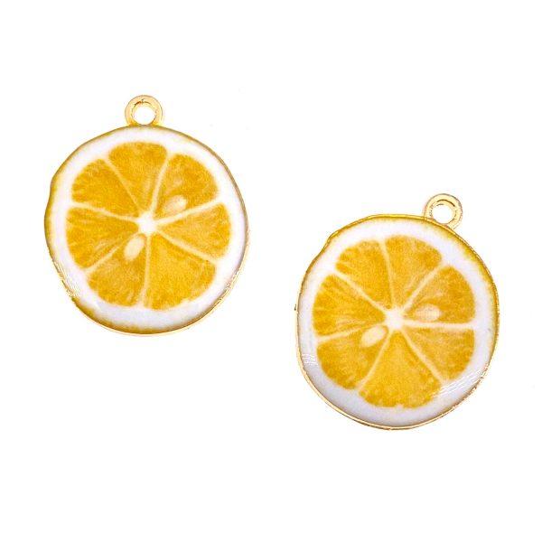 檸檬片合金首飾配件