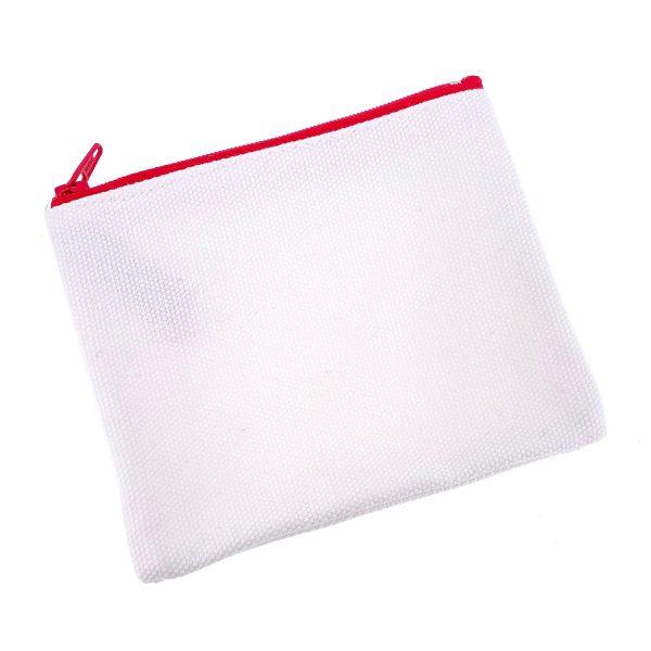 紅色拉鏈布袋13X10CM