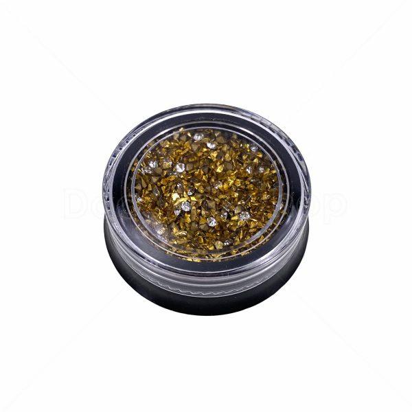 微鑽碎玻璃砂組合-金色