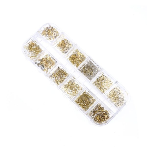 滴膠UV膠封入物-金銀色屬裝飾套裝2