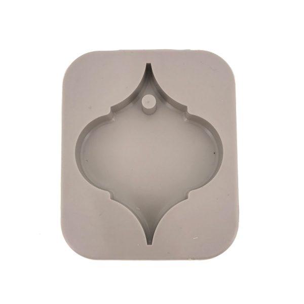 香薰蠟片圓角菱形硅膠模具