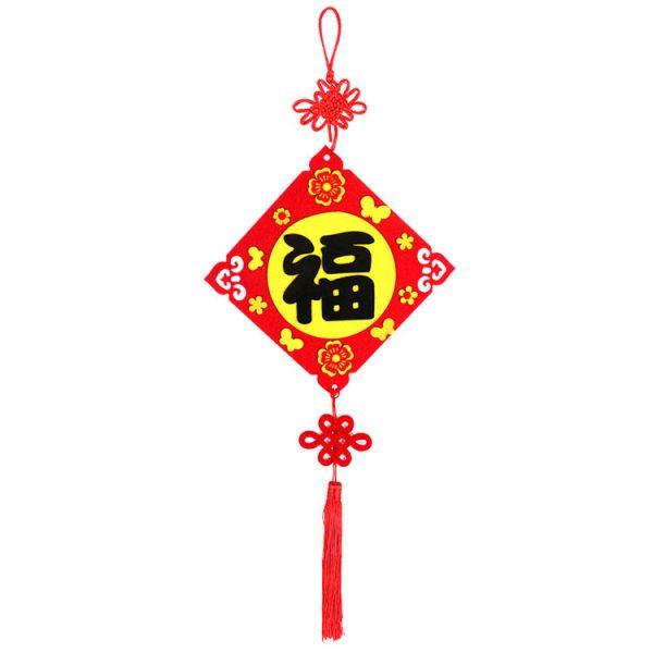 新年不織布福掛飾DIY材料