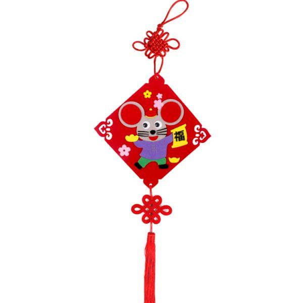 新年不織布老鼠仔掛飾DIY材料