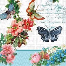 Decoupage蝶古巴特紙巾-蝴蝶