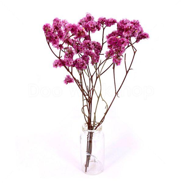 紫色水晶草小束乾花