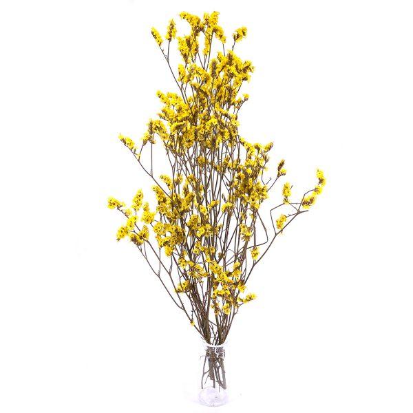 黃色水晶草乾花花束