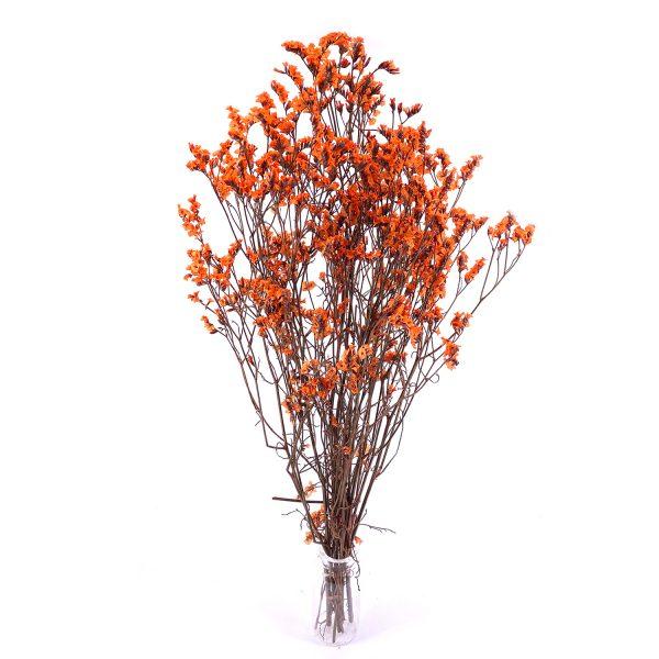橙色水晶草乾花花束