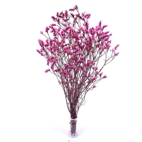 粉紅色水晶草乾花花束
