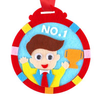 【預購】父親節不織布奬牌DIY材料包-紅色