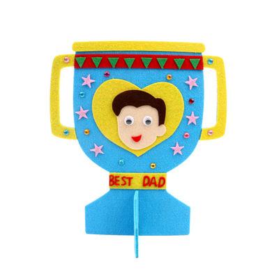 【預購】父親節不織布奬座DIY材料包-藍色