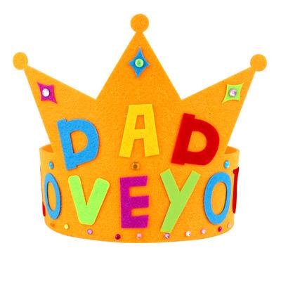 【預購】父親節不織布皇冠DIY材料包-橙色