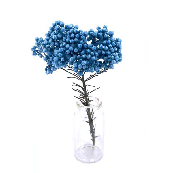 藍色小米花乾花