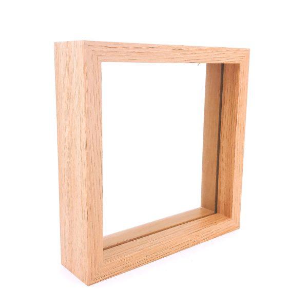 原木色玻璃正方形立體相架