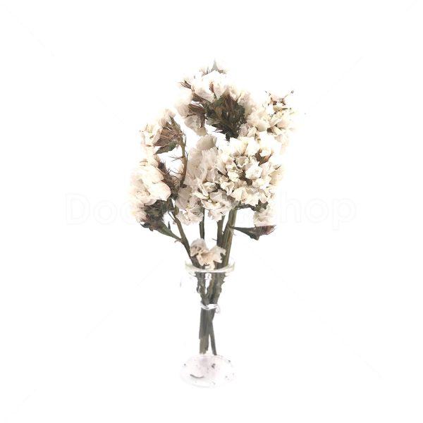 白色勿忘我小束乾花