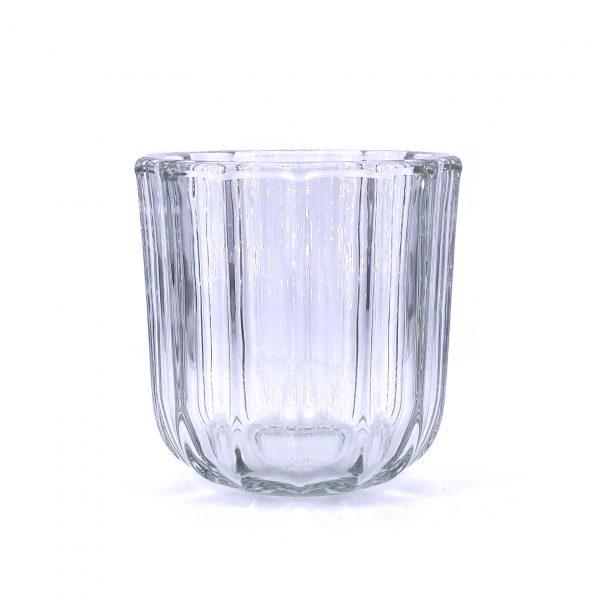 直紋加厚玻璃蠟燭杯