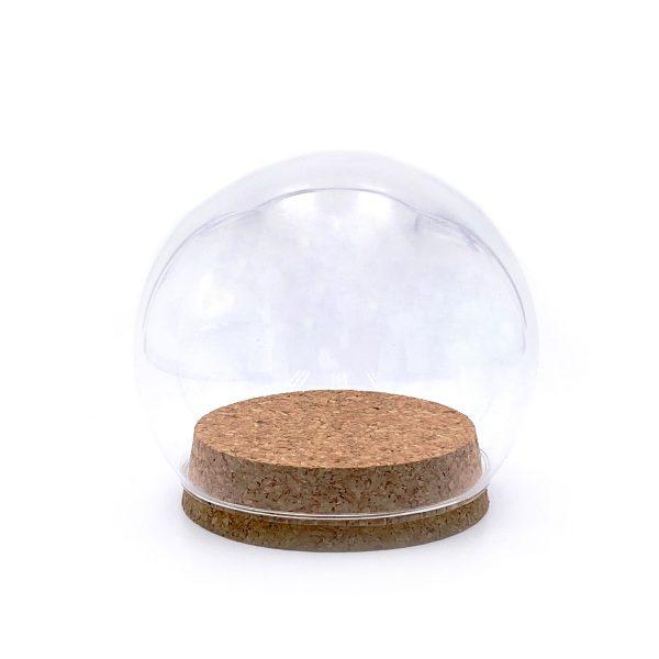 木塞圓球玻璃罩10CM