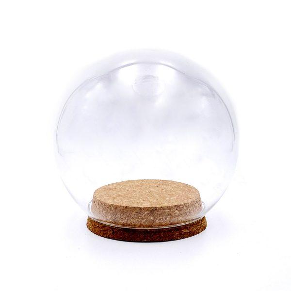木塞圓球玻璃罩12CM