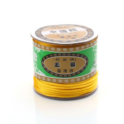 台灣莉斯牌玉線中國結6號線-黃色