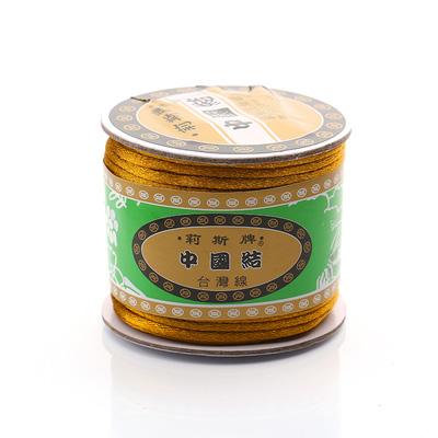 台灣莉斯牌玉線中國結6號線-金色