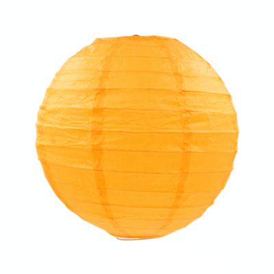 淺橙色紙燈籠20CM