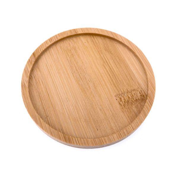 馬賽克圓形竹木杯墊