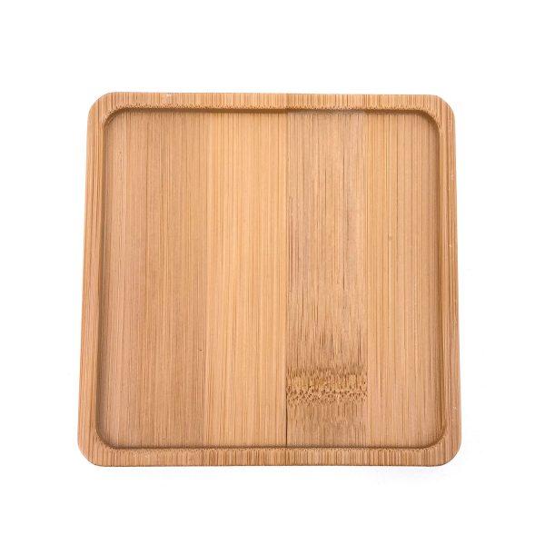 馬賽克正方形竹木杯墊