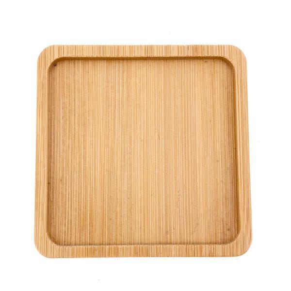 馬賽克正方形竹木杯墊小號
