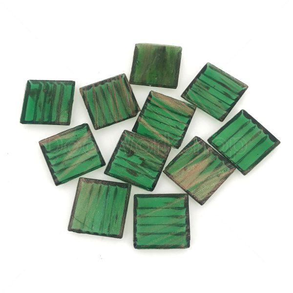 綠色透明金線馬賽克20X20MM