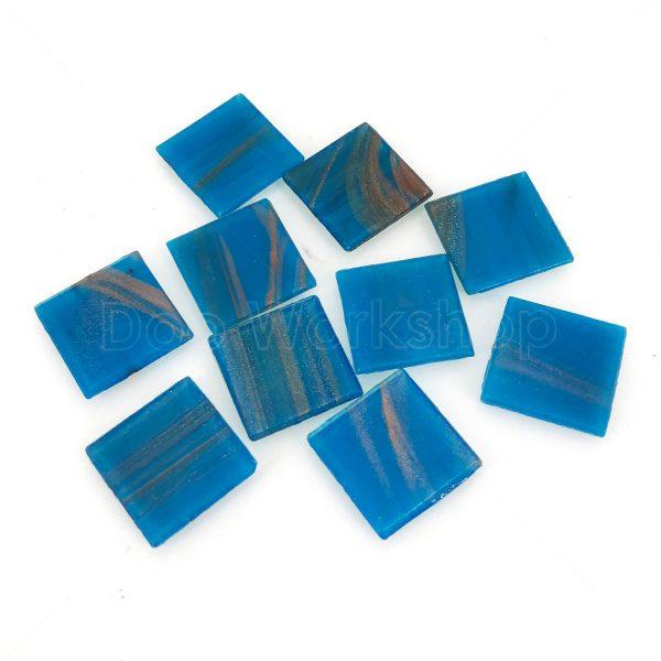 藍色金線馬賽克20X20mm