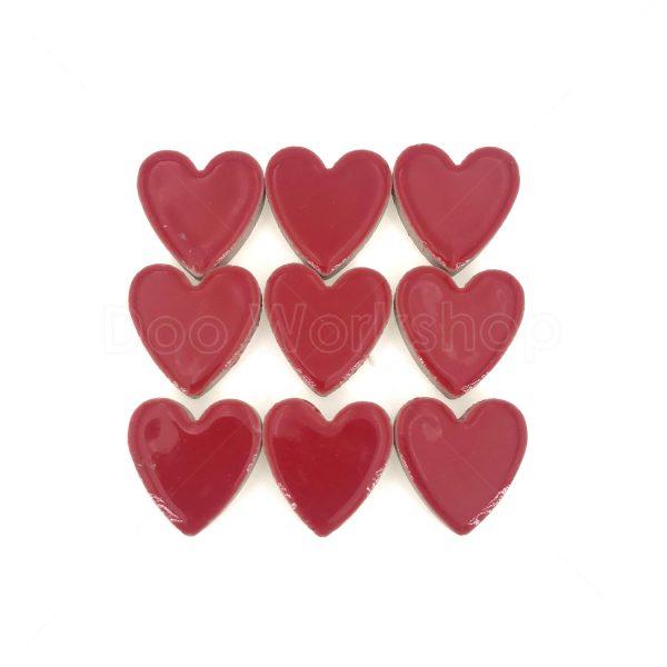 紅色心型陶瓷馬賽克