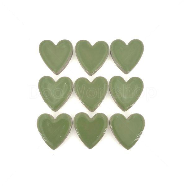 綠色心型陶瓷馬賽克