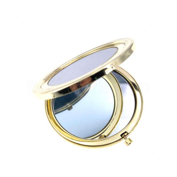金色花邊單面金屬化妝鏡