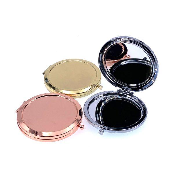 單面金屬圓鏡盒