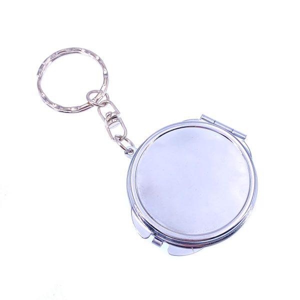 圓形雙面摺叠小鏡子鎖匙扣