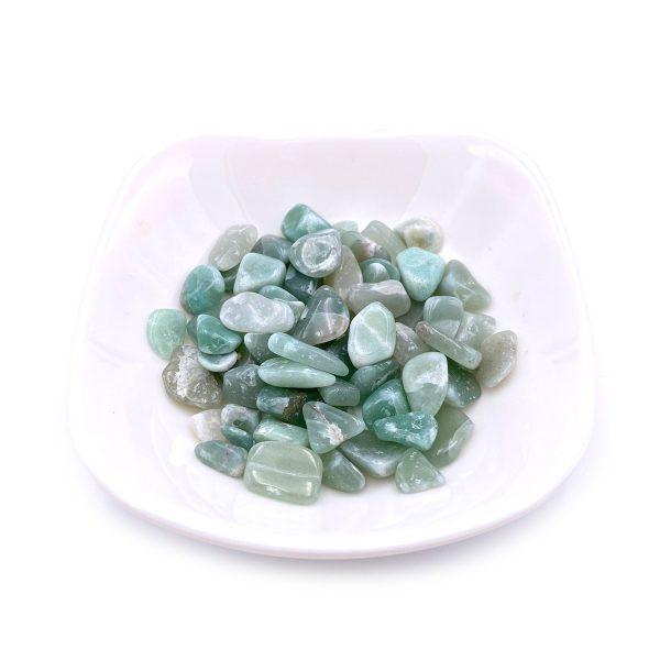 天然東陵玉水晶碎石
