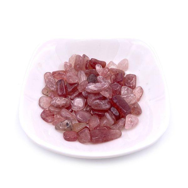 天然草莓晶水晶碎石